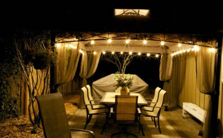 Gazebo Lighting Ideas Romatic Outdoor Patio