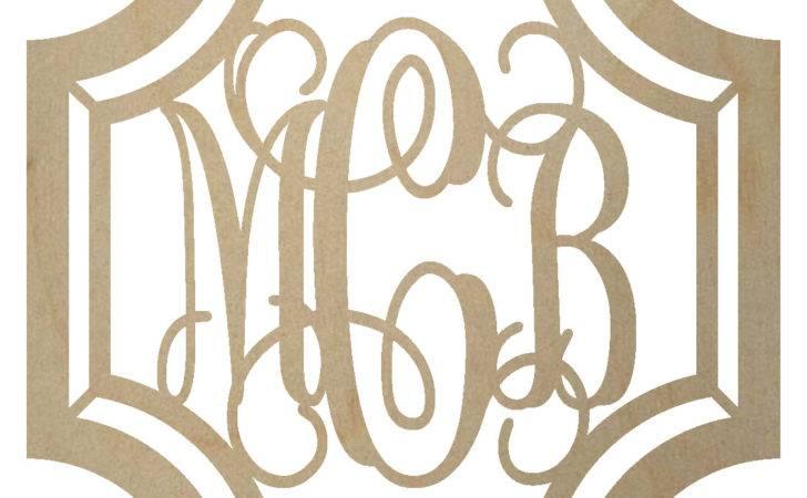 Gem Stone Monogram Wooden Letters Bcrafty