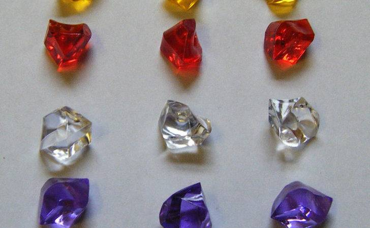 Gem Stones Plastic Pieces Games Decorations New Ebay