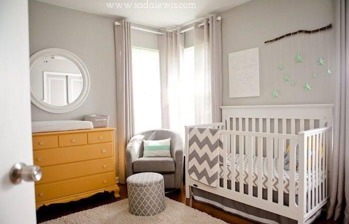 Gender Neutral Nursery Yellow Mint Grey Chevron Casa Lewis