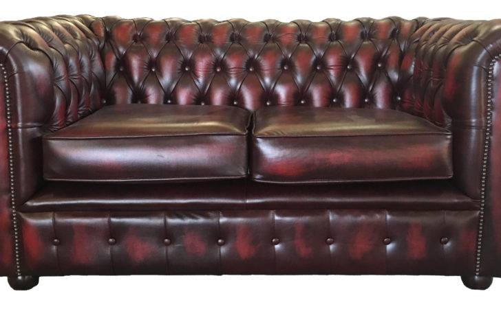 Genuine Leather Chesterfield Three Two Seater Sofa