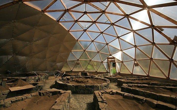 Geodesic Dome Greenhouse Interior