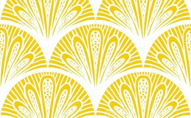 Geometric Pattern Bright Yellow Seamless Texture Web Print