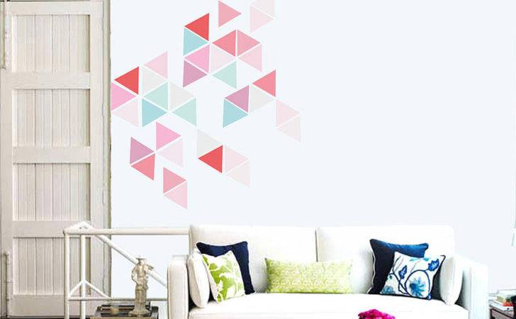Geometric Triangle Vinyl Wall Stickers Contemporary