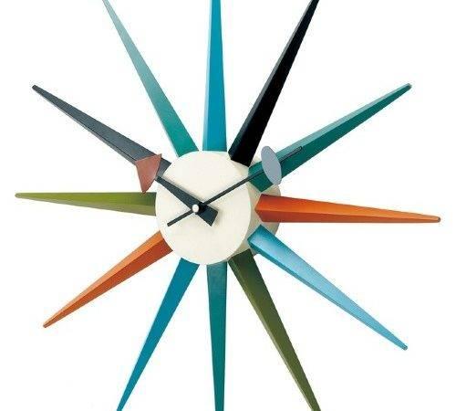 George Nelson Classic Wooden Sunburst Wall Clock Kirch