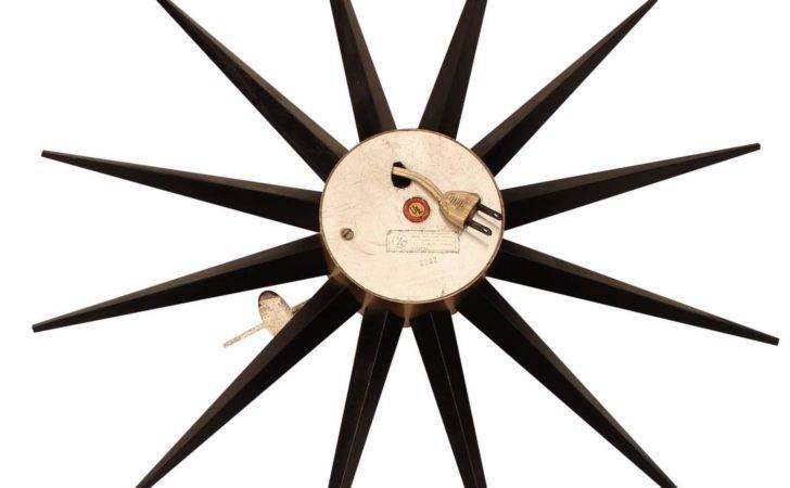 George Nelson Howard Miller Sunburst Clock Model