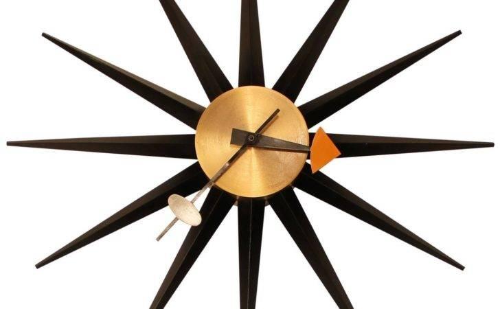 George Nelson Howard Miller Sunburst Clock Stdibs