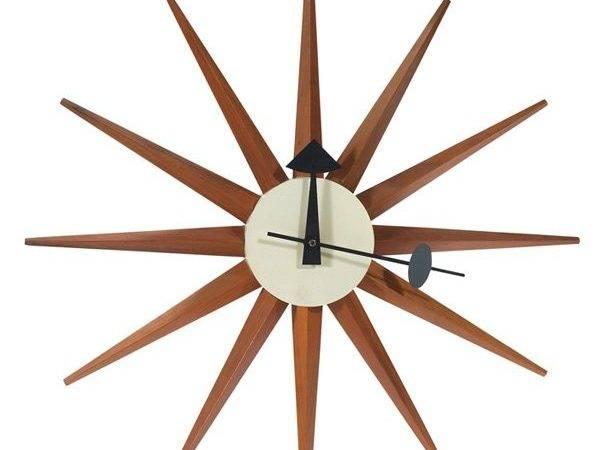 George Nelson Spike Sunburst Wall Clock Howard Miller Lot