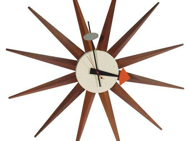 George Nelson Spike Sunburst Wall Clock Lot