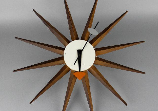 George Nelson Sunburst Clock Alcoa Housemodern December