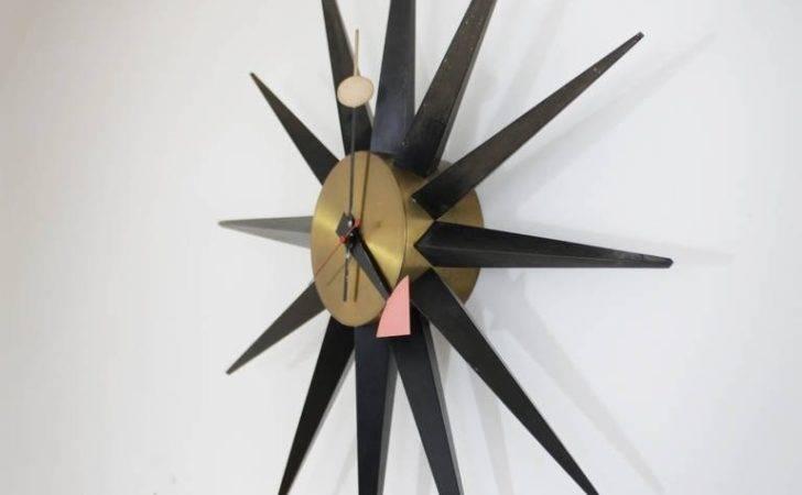 George Nelson Sunburst Clock Stdibs