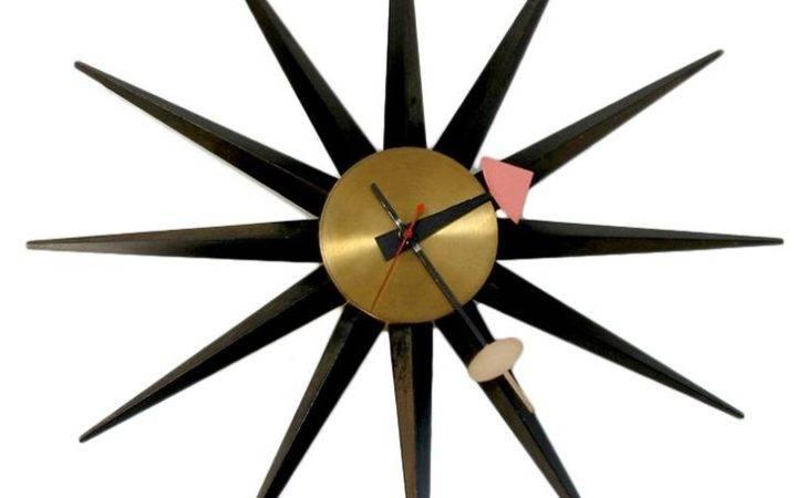 George Nelson Sunburst Clock Time Pinterest
