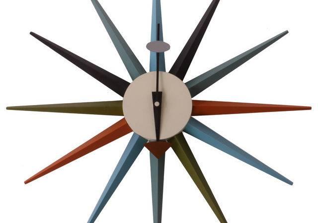George Nelson Sunburst Clock Unknown Matt Blatt Modern Clocks
