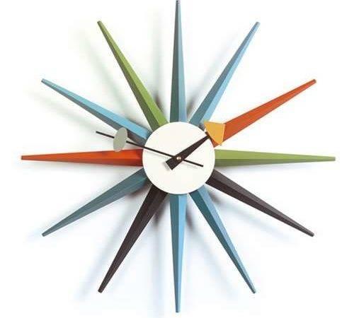 George Nelson Sunburst Clock Vitra Wall Clocks Yliving