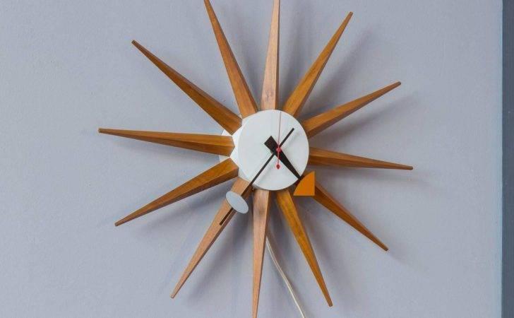 George Nelson Sunburst Wall Clock Stdibs