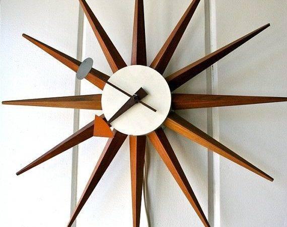 George Nelson Vintage Spike Clock Starburst Blueflowervintage