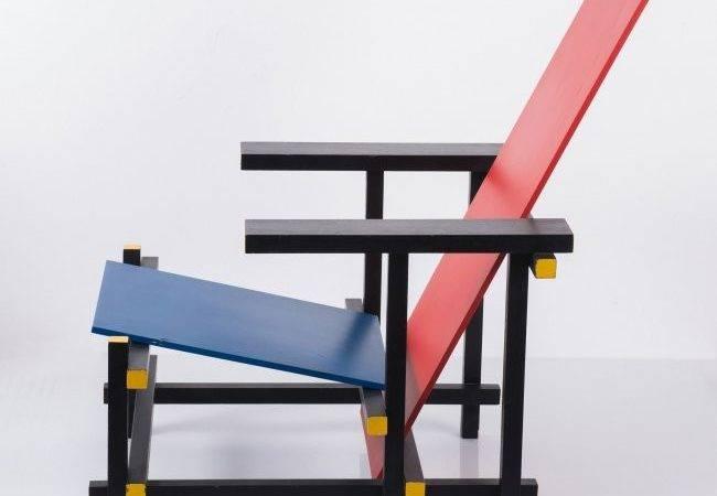 Gerrit Rietveld Red Blue Armchair Lot