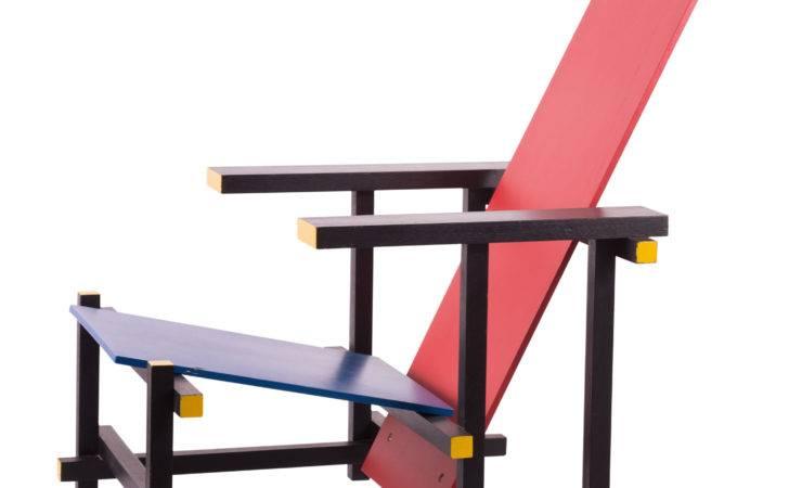 Gerrit Rietveld Red Blue Armchair