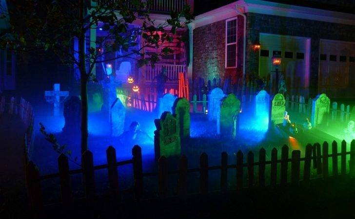 Getting Halloween Lighting Front Yard Spot