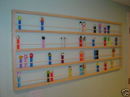 Giant Long Pez Display Shelf Directions Here Just Great Idea