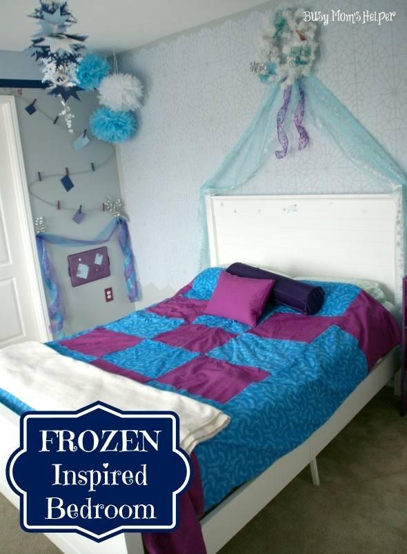 Girl Bedrooms Inspired Disney Frozen Paint Pattern