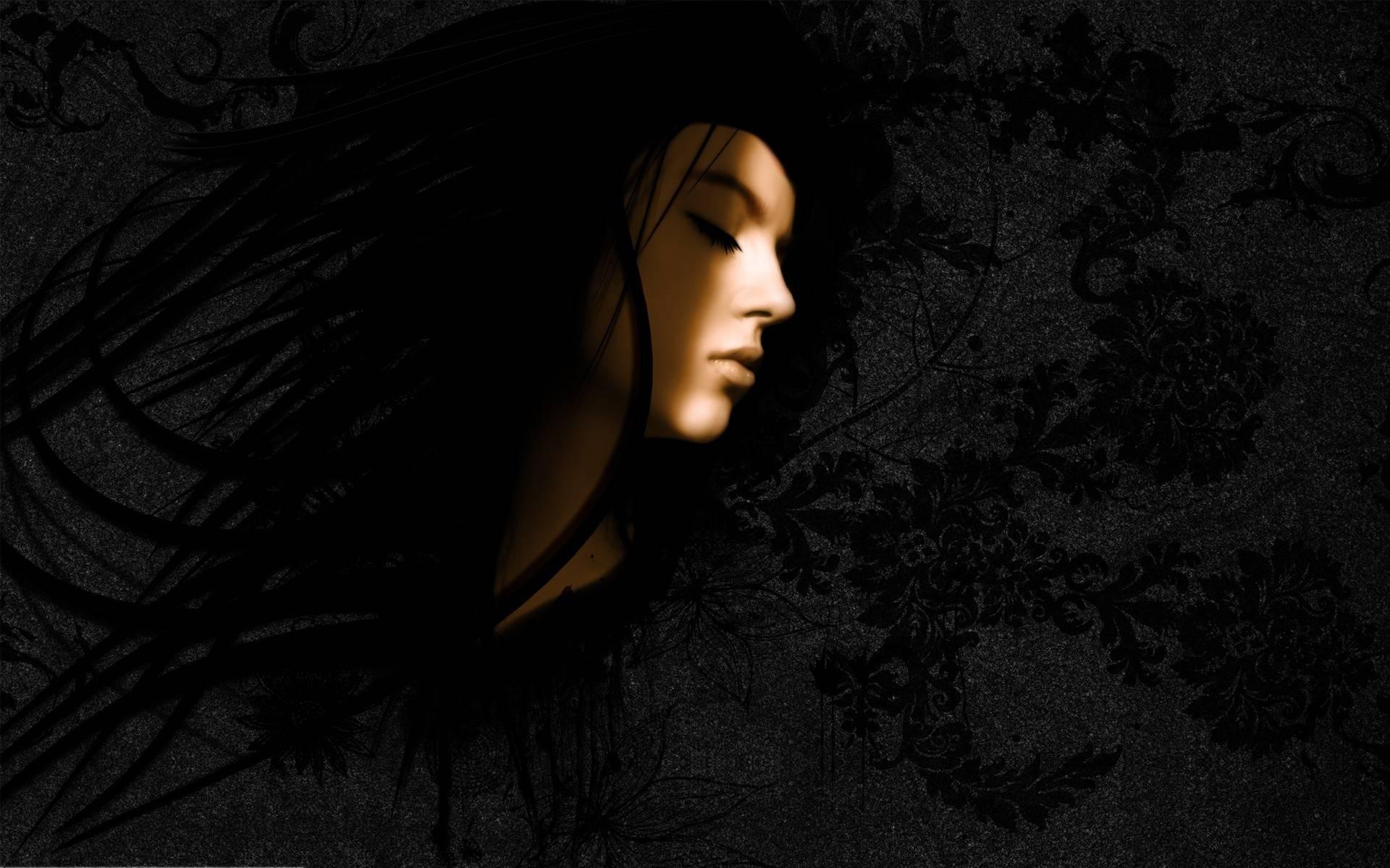 Girl Face Black White Makeup Themes