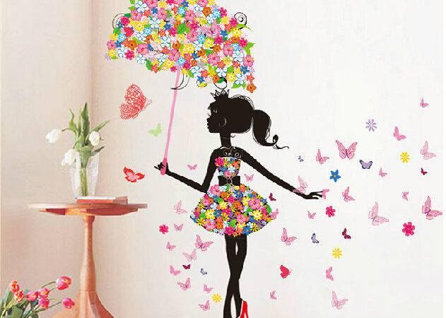 Girl Removable Wall Art Sticker Vinyl Decal Diy Room Home Mural Decor