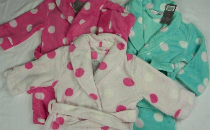 Girls Fleece Dressing Gown Pink Fuschia Turquoise Age Ebay
