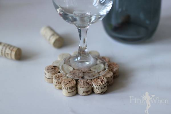 Give Cool Diy Wine Cork Drink Coaster Tutorial Try Impress