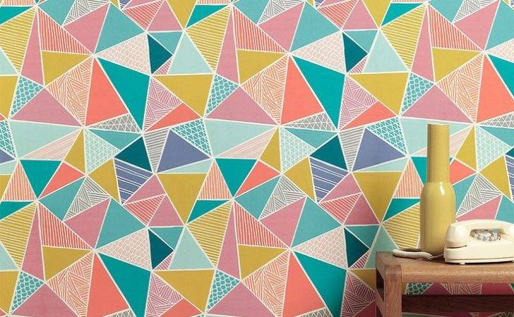 Give New Contemporary Looks Walls Geometric Wall Murals