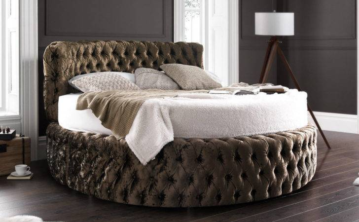 Glamour Chesterfield Round Bed Headboard
