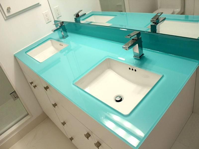 Glass Bathroom Countertops Cgd