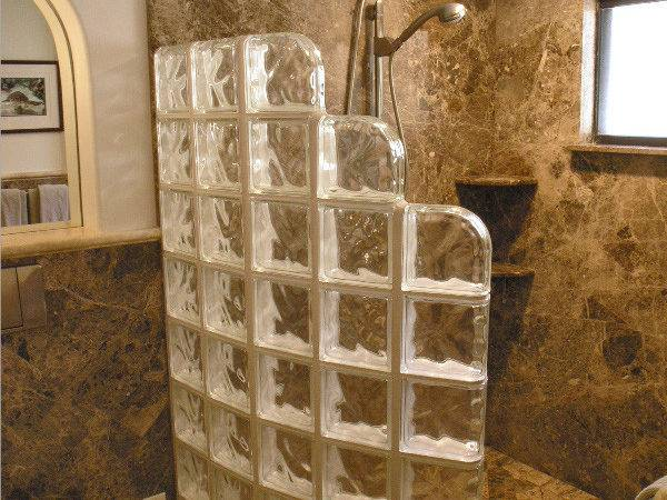 Glass Block Shower Walk Showers
