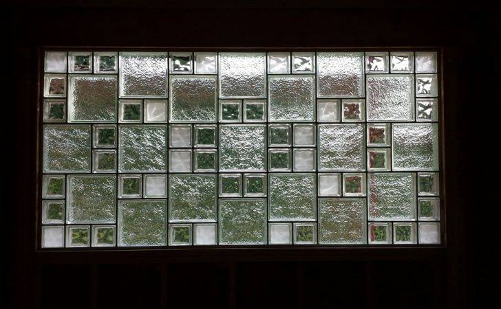 Glass Block Window Mixing Different Sizes Styles
