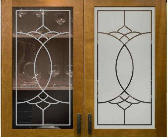 Glass Door Cabinets Inserts Frosted Carved Custom Sans