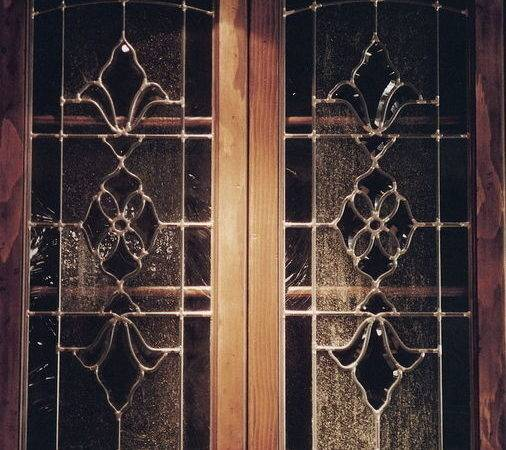 Glass Door Cabinets Inserts Frosted Carved Custom