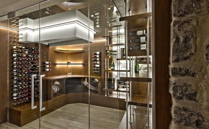 Glass Enclosed Wine Cellars Stact Racks
