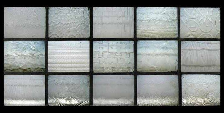 Glass Exceptional Arts Crafts Textured Stained Panel