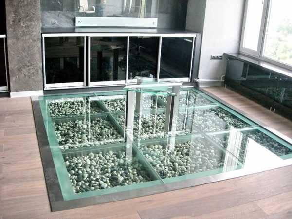 Glass Floor Designs Furnish Burnish