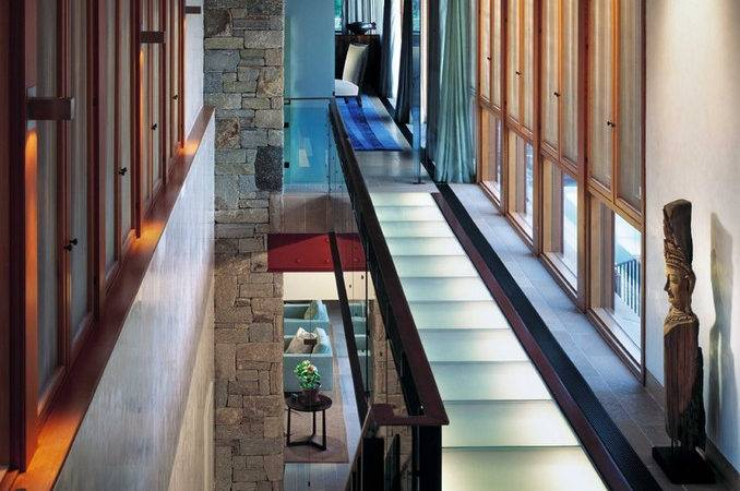 Glass Interior Design Uses Upper