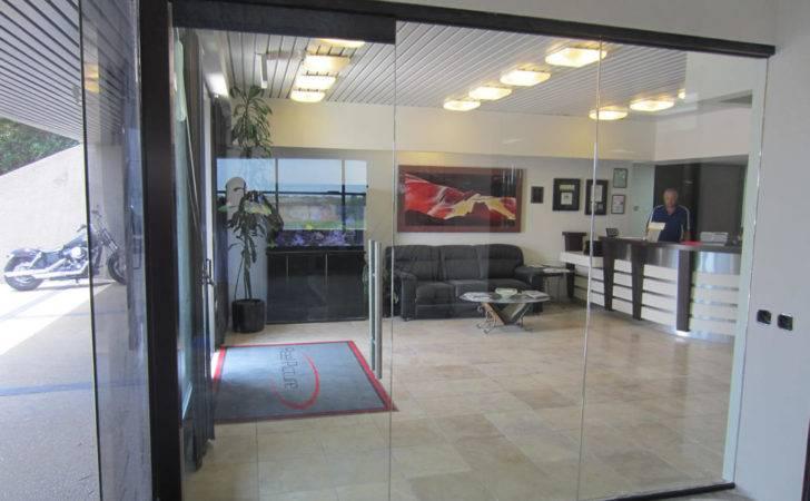 Glass Office Wall Installation Patriot Mirror