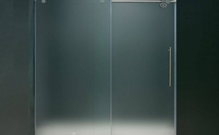 Glass Shower Doors Diy Frameless Frosted
