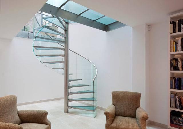 Glass Spiral Staircase Contemporary Toronto