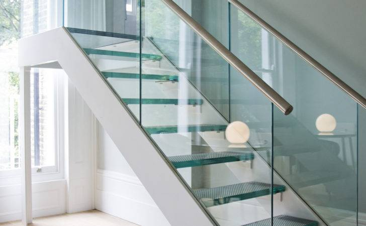 Glass Staircase Panels Wood Stair Railing Inspiration