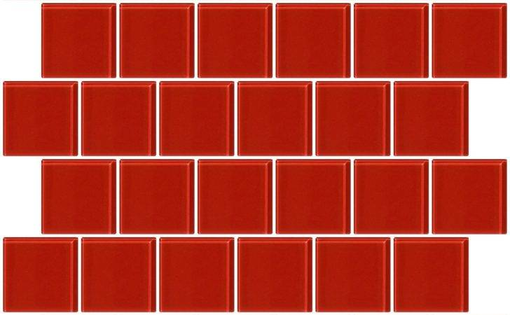 Glass Tile Inch Red Brick Offset