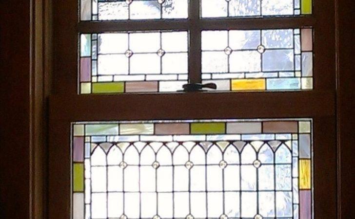 Glass Window Fiber Art Wreath