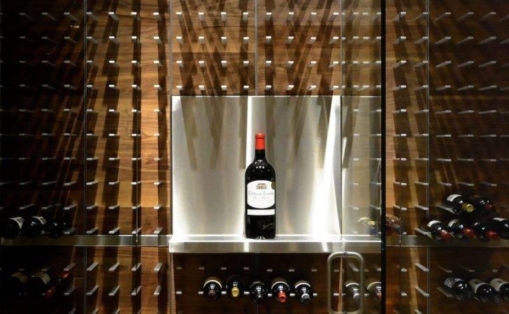 Glass Wine Cellar Kitchen Sarasota Panels Walnut