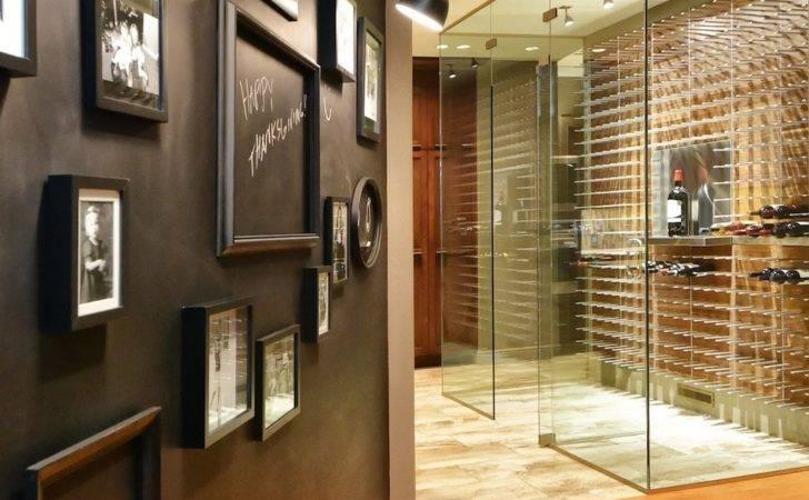 Glass Wine Cellar Sarasota Panels Walnut Design Onyx