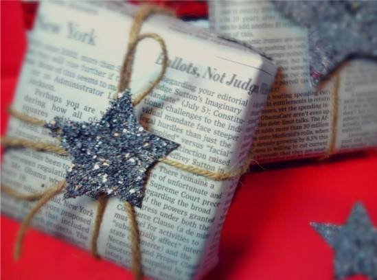 Glitter Twine Christmas Gift Wrapping Gave Wrap