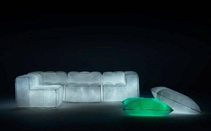 Glowing Pouf Sofa Meritalia Padded Within Futuristic Sofas